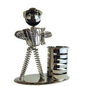 Lapicero de metal acordeon grande