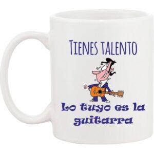 Taza musical guitarrista flamenco